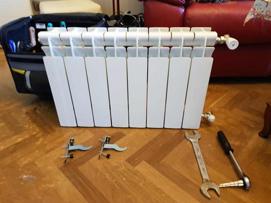 Radiador preparado para instalar