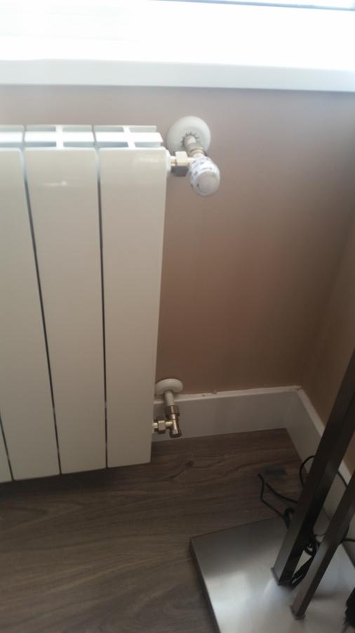 radiador vista instalación interior