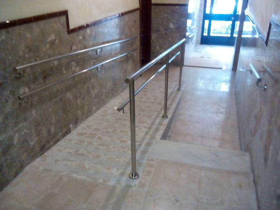 Rampas de acceso terminadas