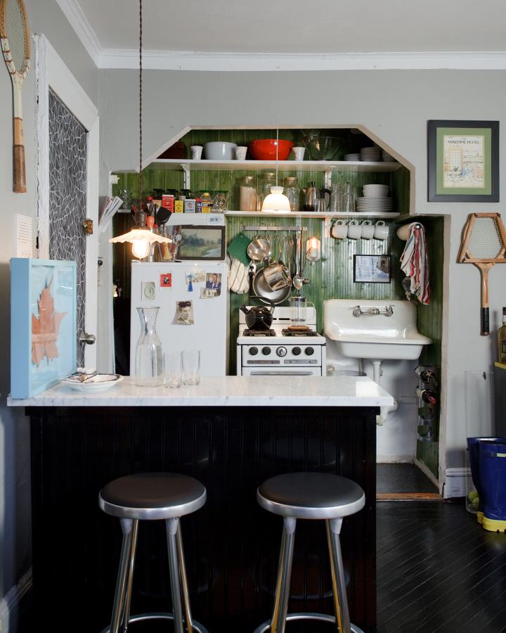 decorar con raquetas en la cocina