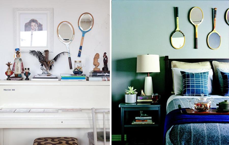 raquetas hechas espejo