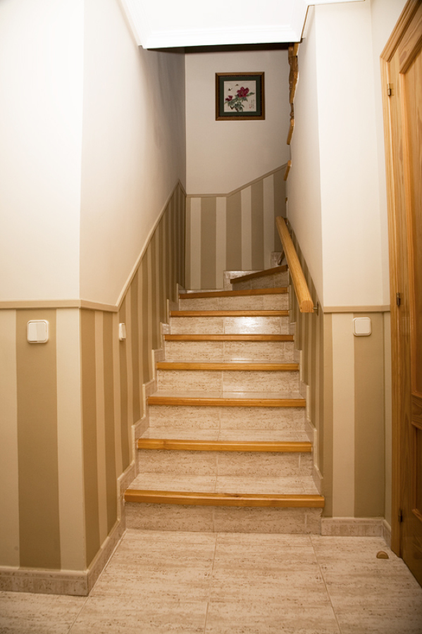 foto rayas en tiro de escalera de t cnicas de pinturas