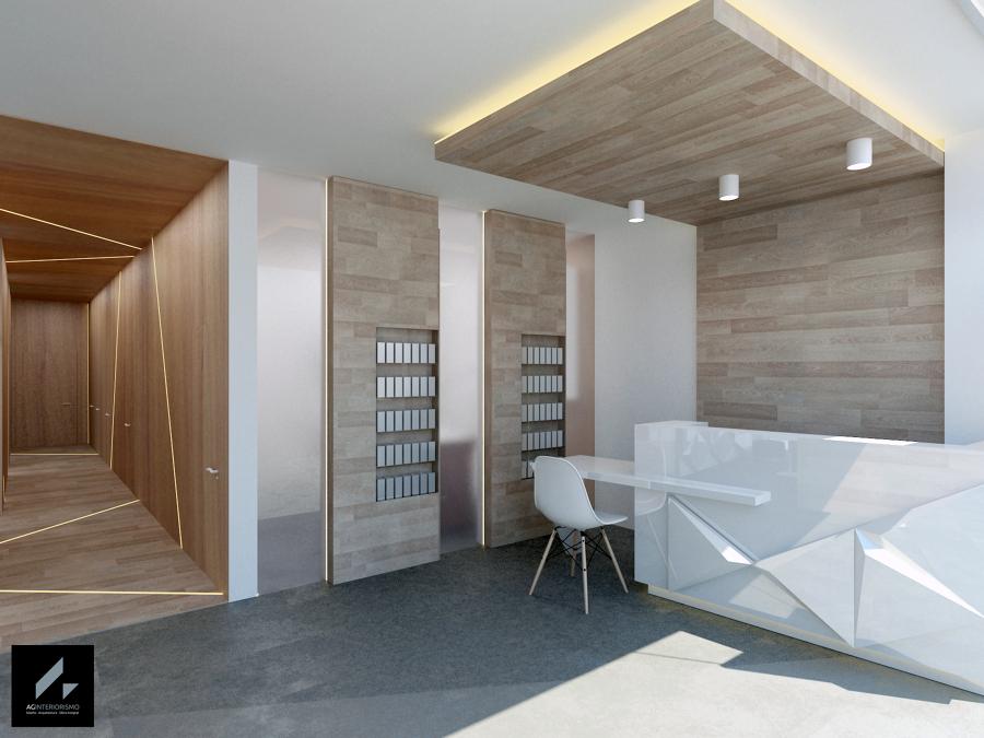 Foto recepci n vest bulo de ag interiorismo 885841 for Muebles vestibulo moderno