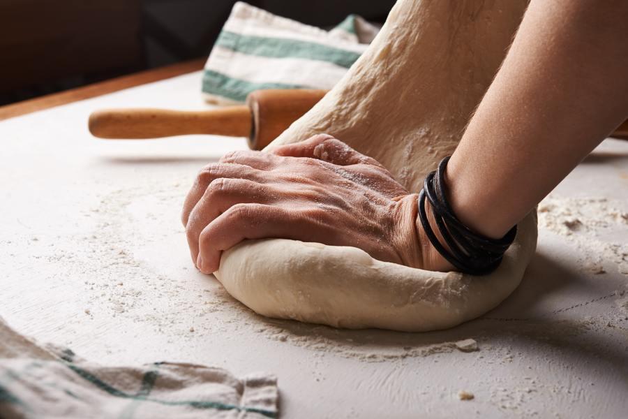 Receta de pan casero: amasado