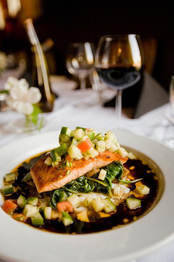 Receta de salmón noruego con vinagreta