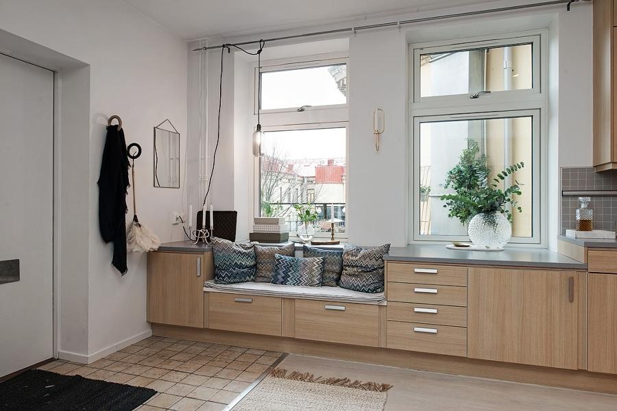 9 ideas para aprovechar un recibidor peque o ideas for Mueble estrecho cocina