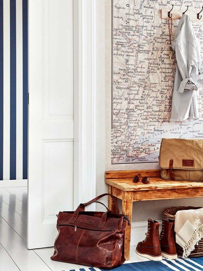 9 ideas para aprovechar un recibidor peque o ideas for Papel pintado recibidor