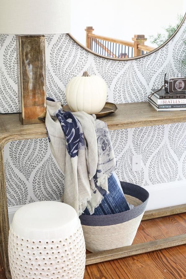Recibidor con textiles