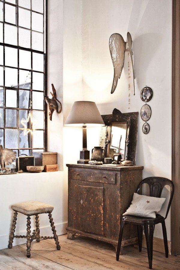 10 recibidores de revista ideas decoradores for Recibidor vintage ikea