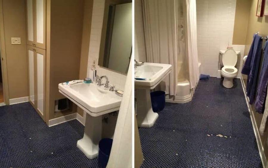Reforma baño antes
