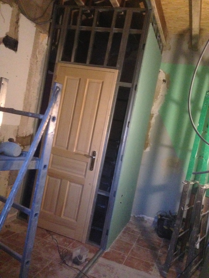 Reforma baño puerta