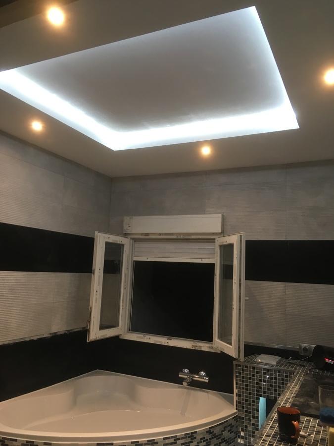 Reforma baño techo falso
