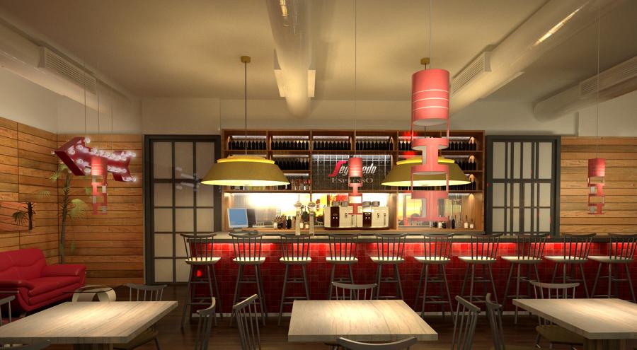 Reforma bar/restaurante Segafredo en el Hotel Wela