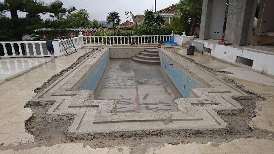 Reforma completa piscina- foto ejecución