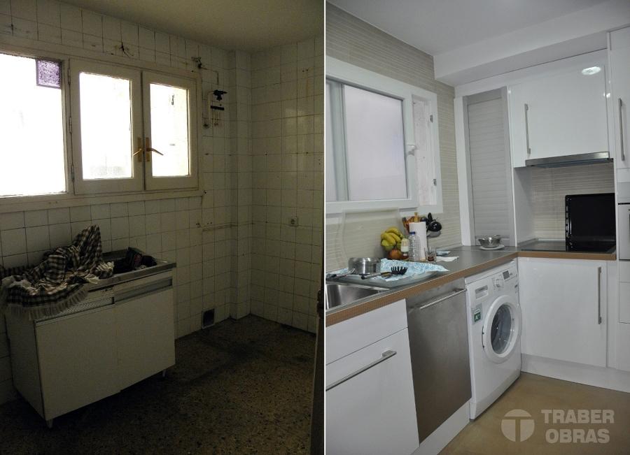 Cocina. Antes y después.