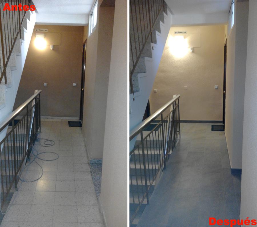 Foto reforma de escalera de comunidad de vecinos en for Apliques para escaleras de comunidad