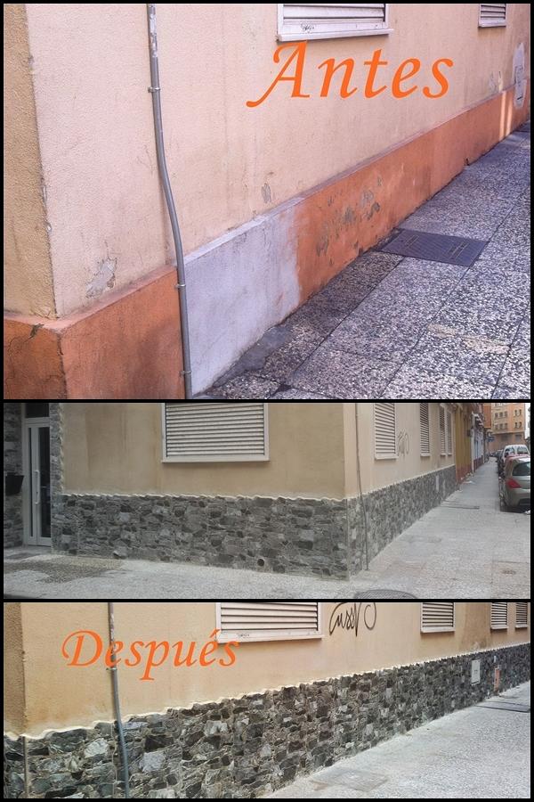 Reforma de fachada en comunidad de vecinos.