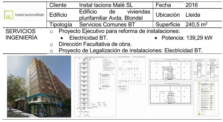 Reforma de Instalación Eléctrica de Servicios Comunes Edificio Plurifamiliar en Lleida