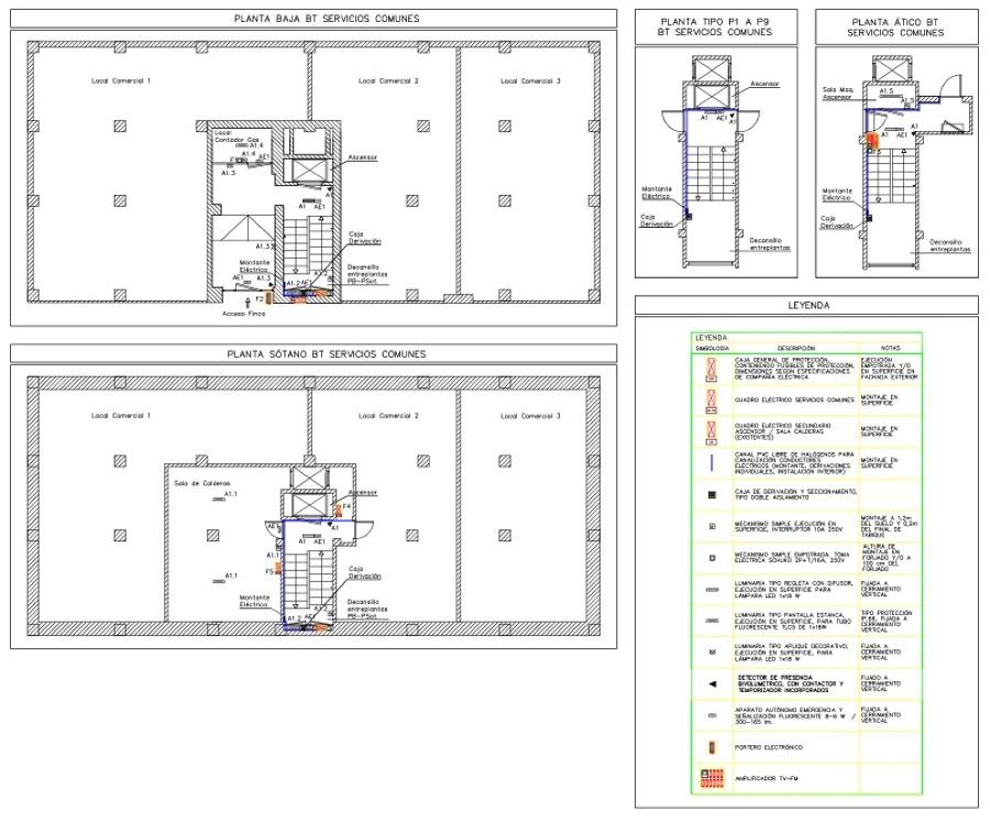 Foto reforma de instalaci n el ctrica servicios comunes for Plano instalacion electrica