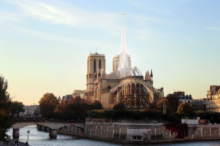 Reforma de la cubierta de Notre-Dame