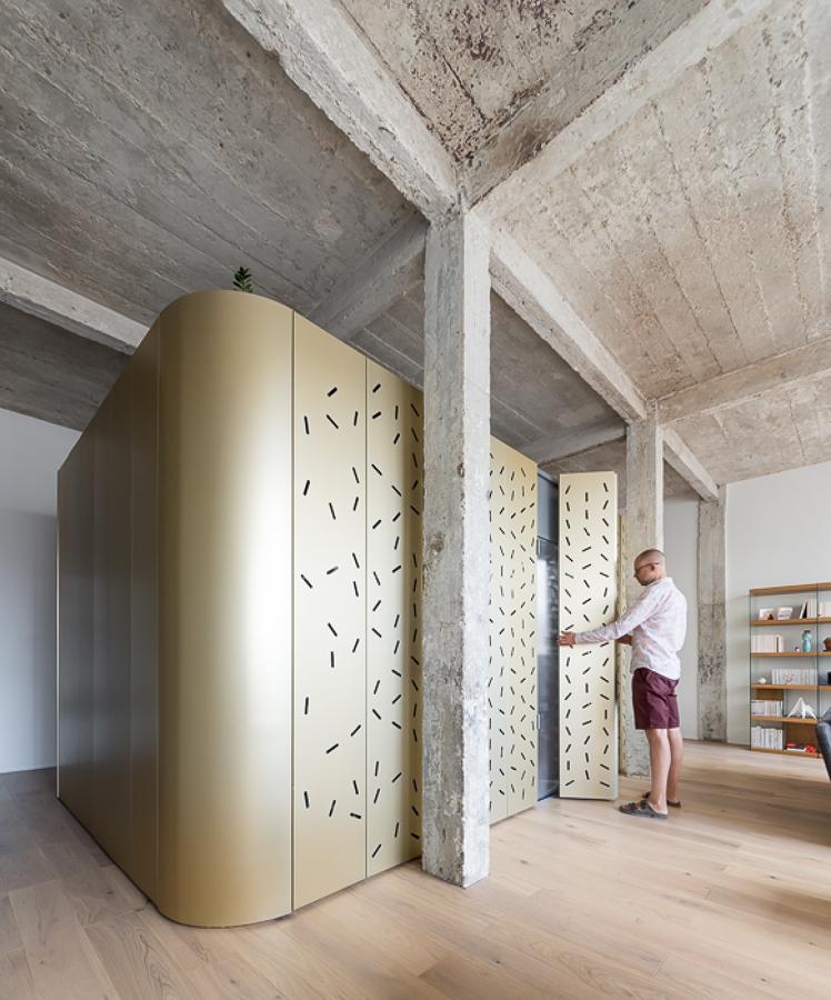 Reforma de loft con estructura de hormigón