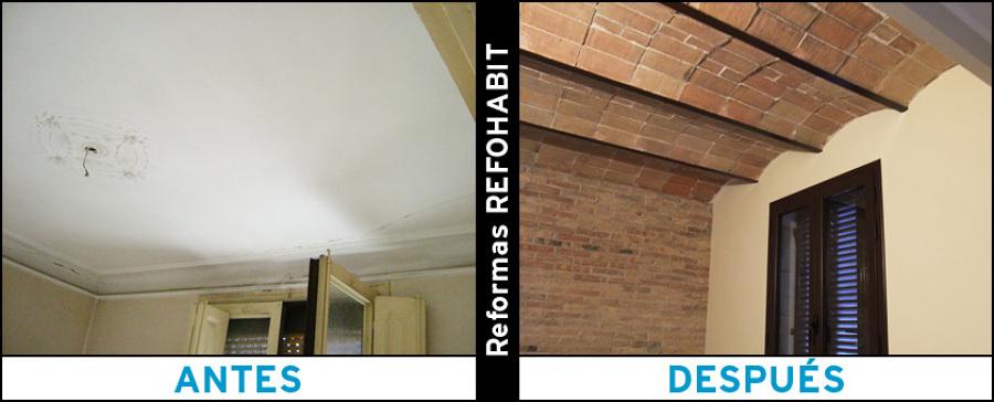 Reforma de techos con volta catalana