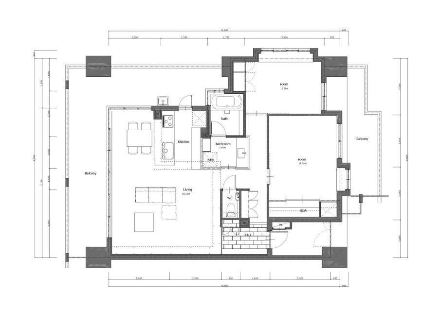 reforma integral de apartamento con balcón
