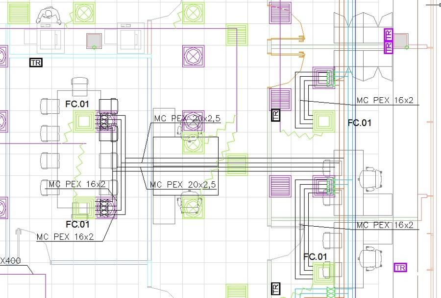 Reforma integral de oficinas en Barcelona - Detalle plano proyecto ejecutivo