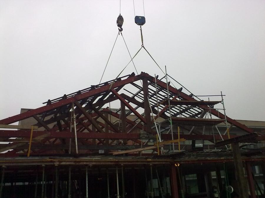 refuerzo estructura cubierta