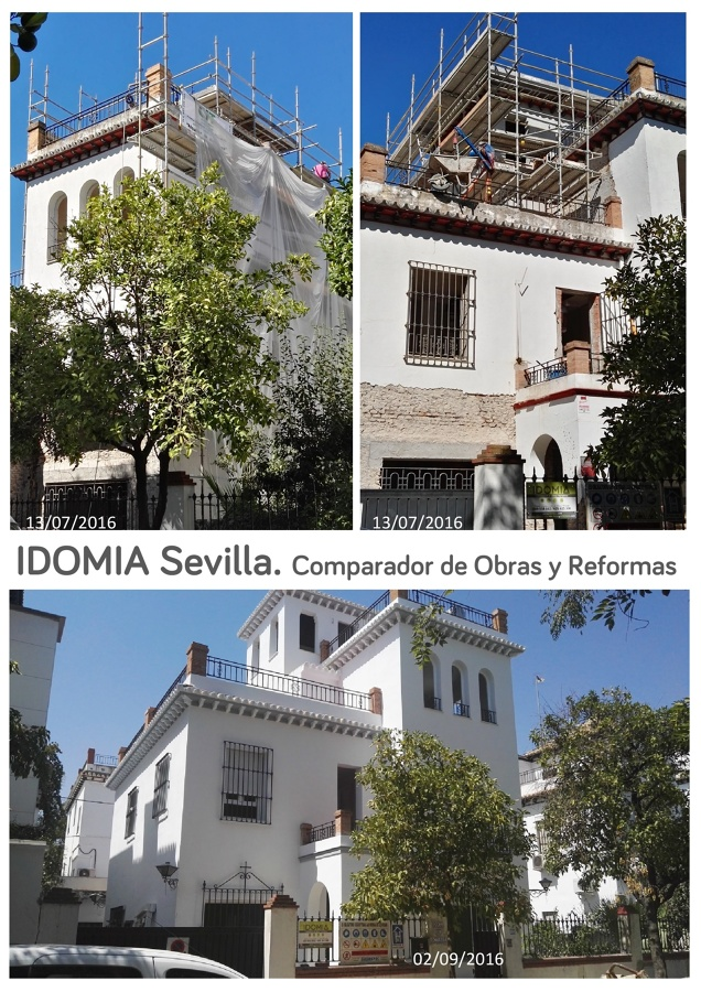 Rehabilitación de chalet en el barrio del Heliópolis. Sevilla.