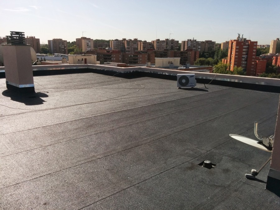 Rehabilitación de cubierta en Coslada (Madrid)