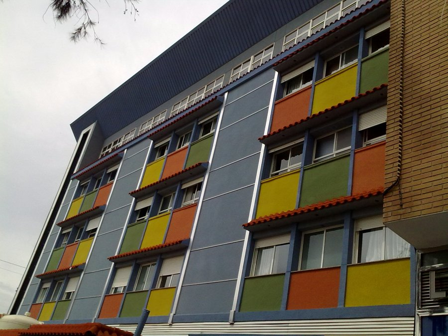Rehabilitación de fachada con corcho proyectado