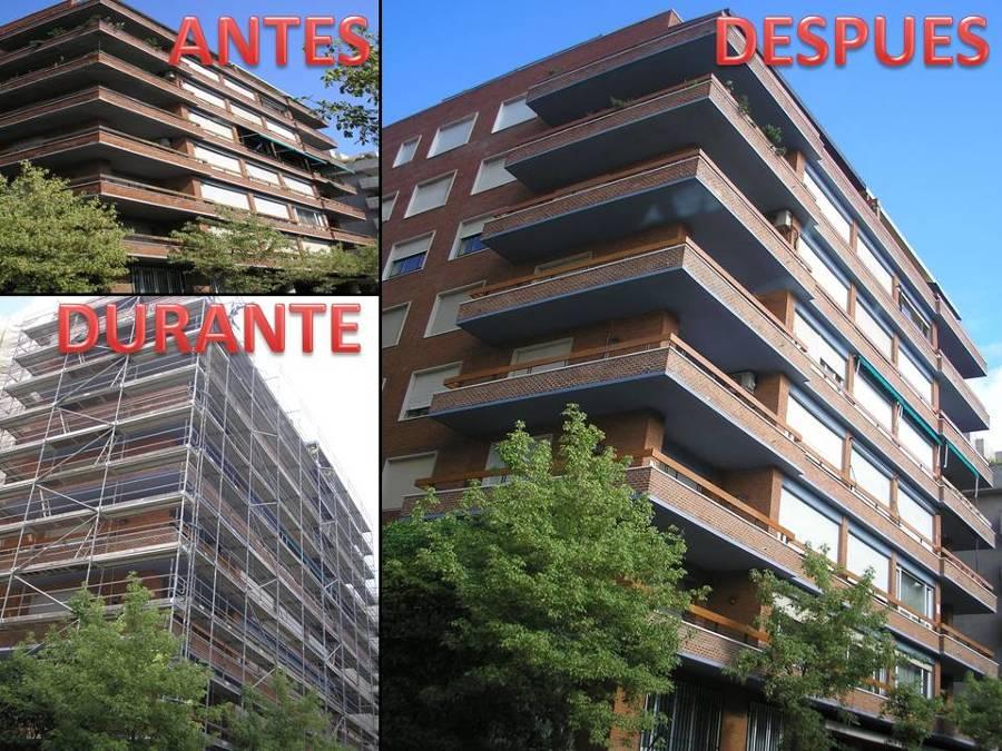 Rehabilitaci n de fachadas en madrid ideas - Fachadas ladrillo visto ...