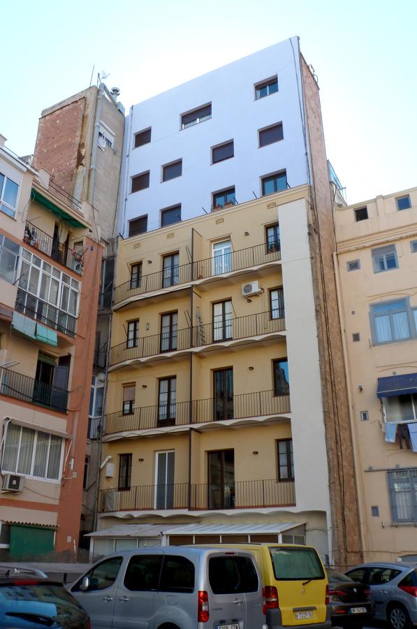 Rehabilitación integral fachada posterior de edificio