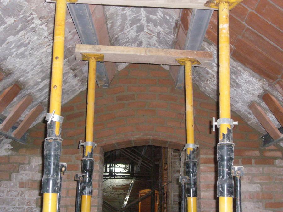 Rehabilitación interior estructura cobierta
