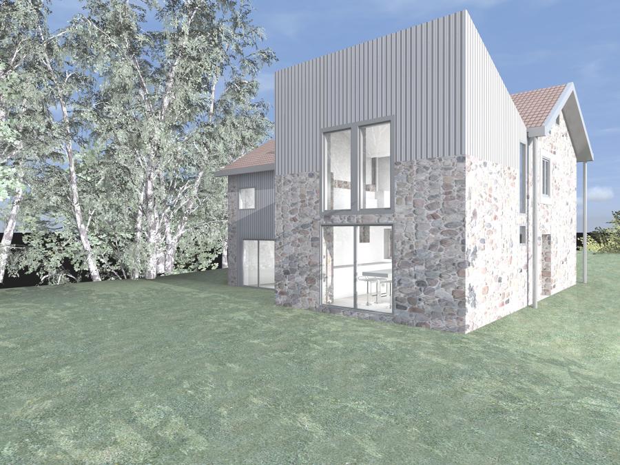 rehabilitación y ampliación de casa rústica