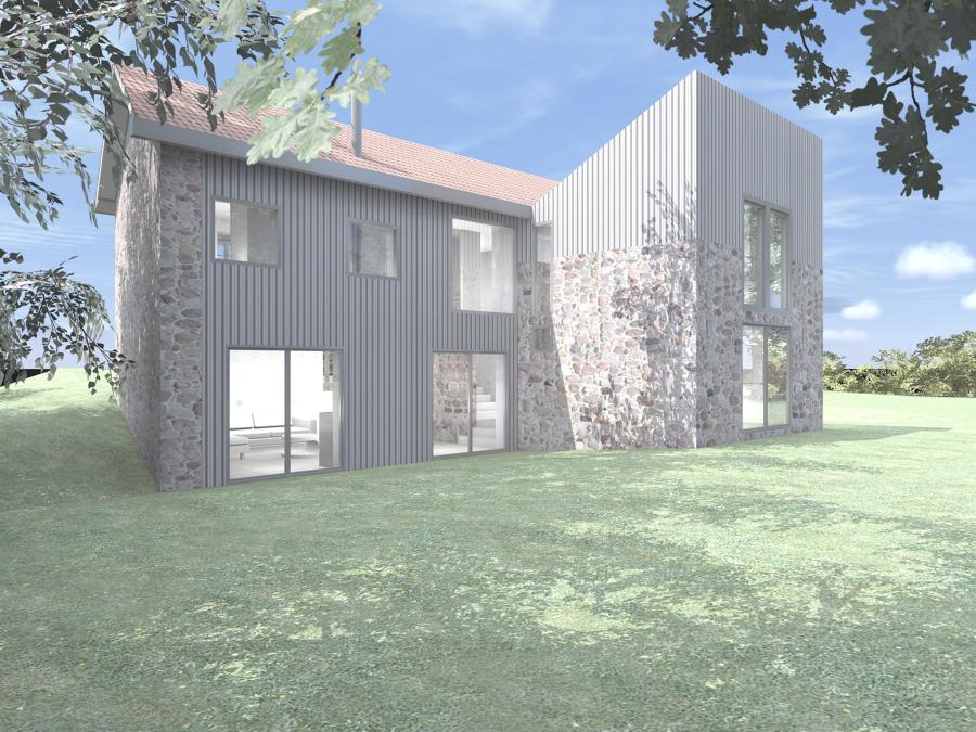 rehabilitación y ampliación de casa rustica