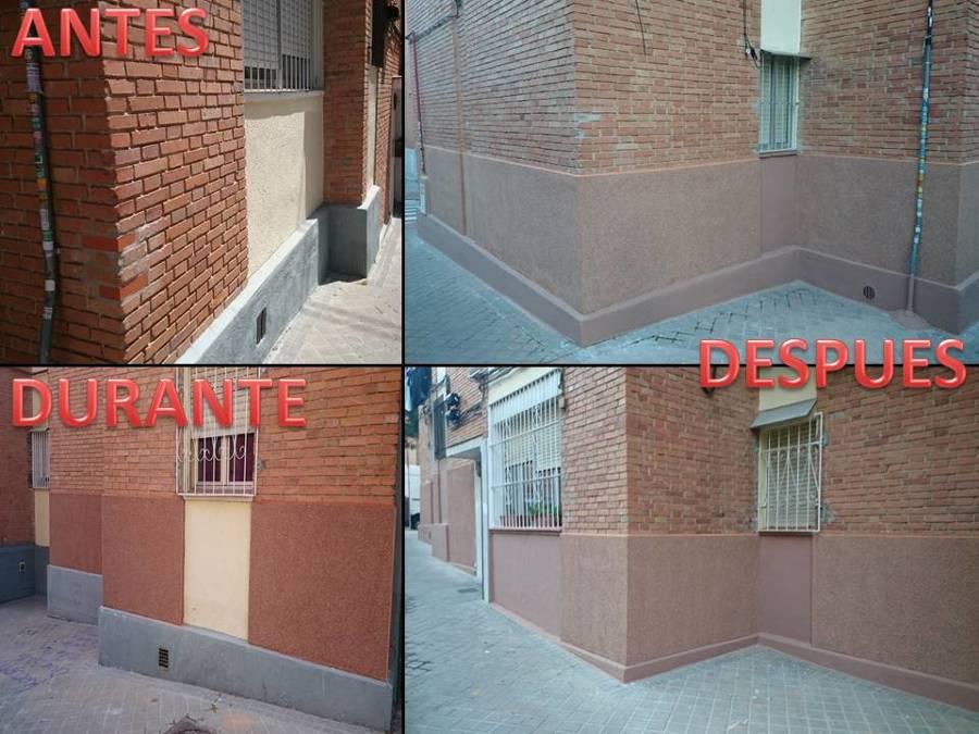 Foto rehabilitaci n zocalo de fachada en madrid de for Zocalos de fachadas fotos