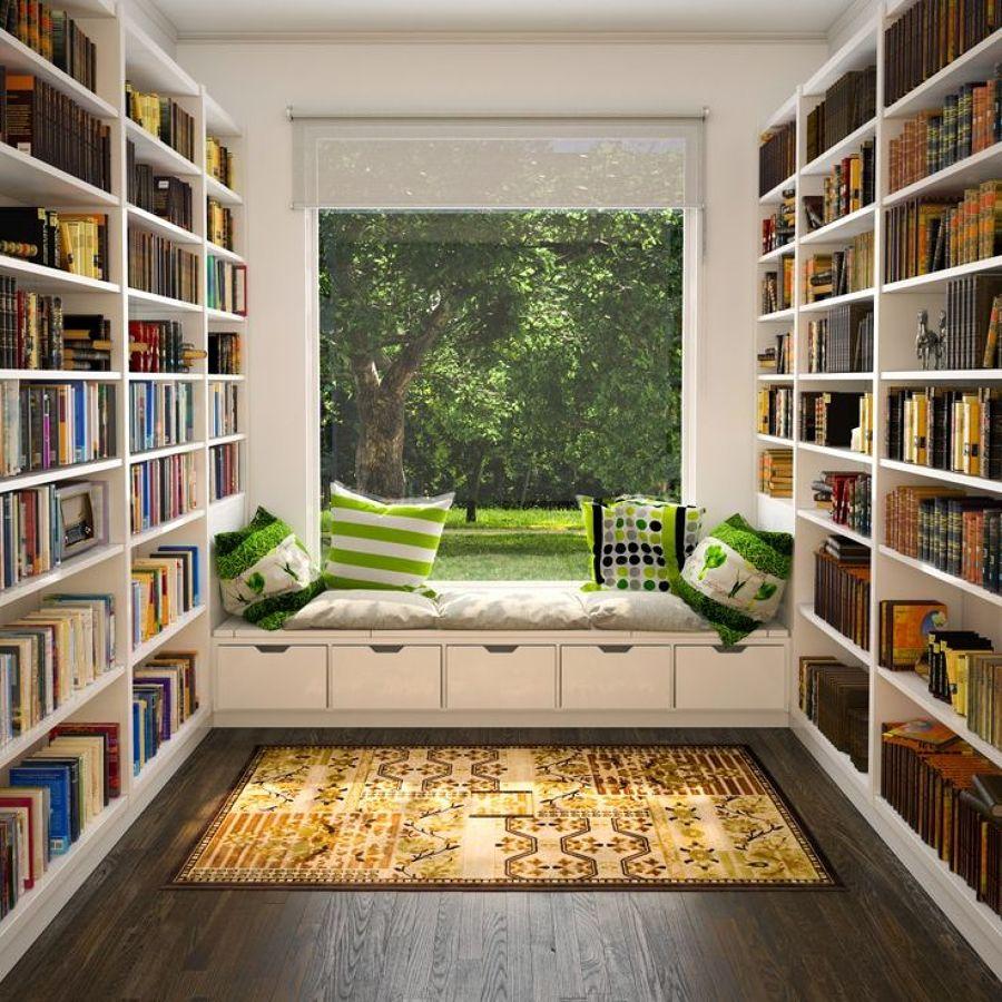 zona de lectura en casa