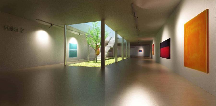 Render interior galeria