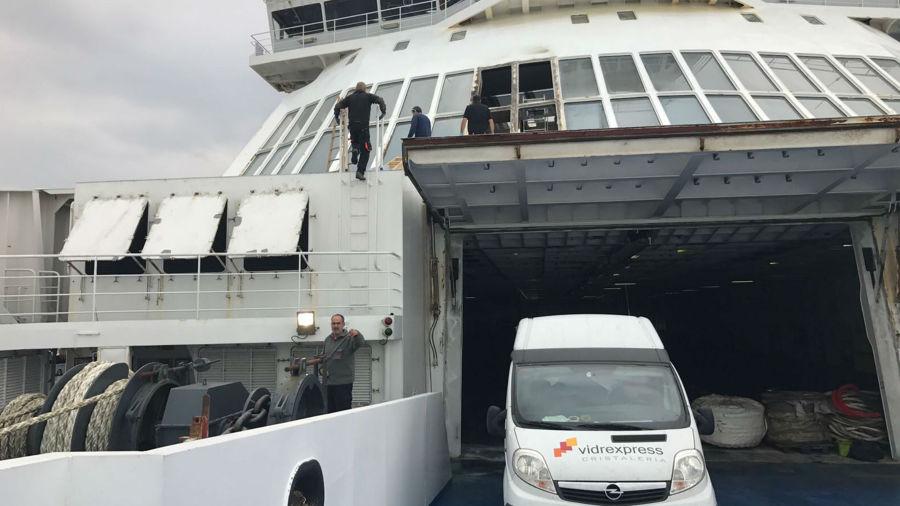 Reparacion buque Martin i Soler.