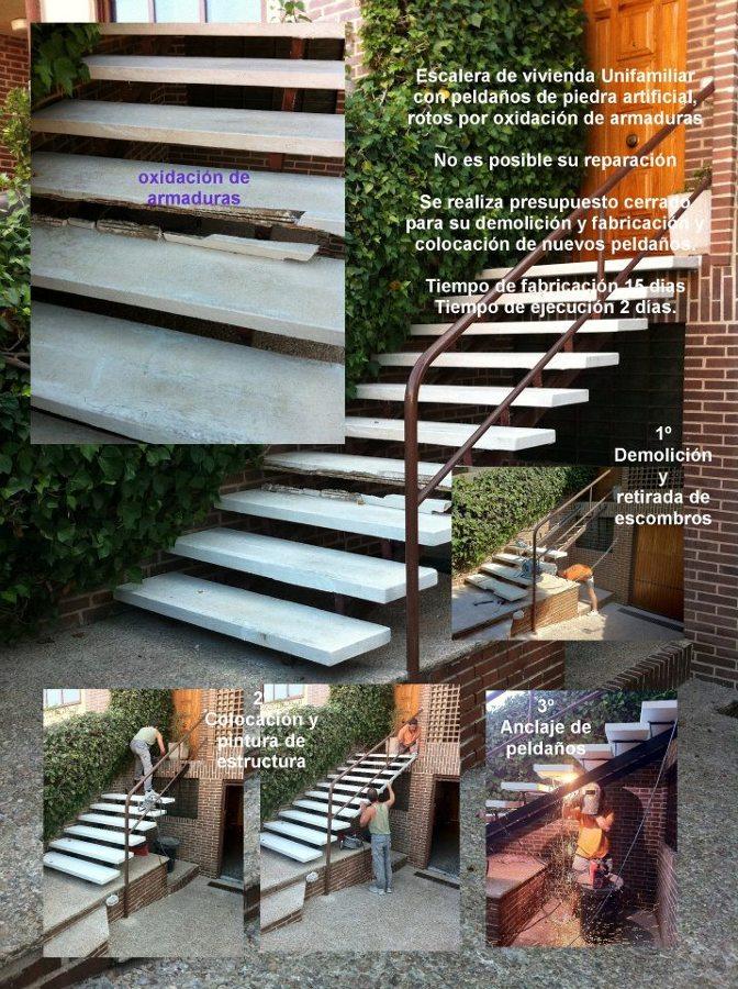 Reparación de escalera entrada vivienda
