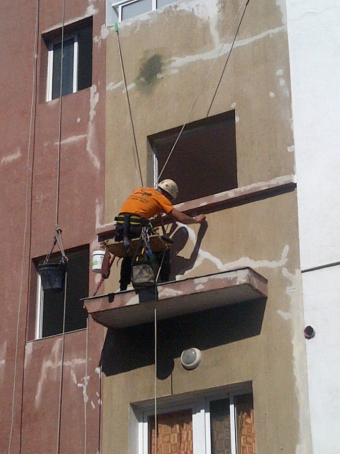 Reparacion de fachada calle felix rodriguez de rivera