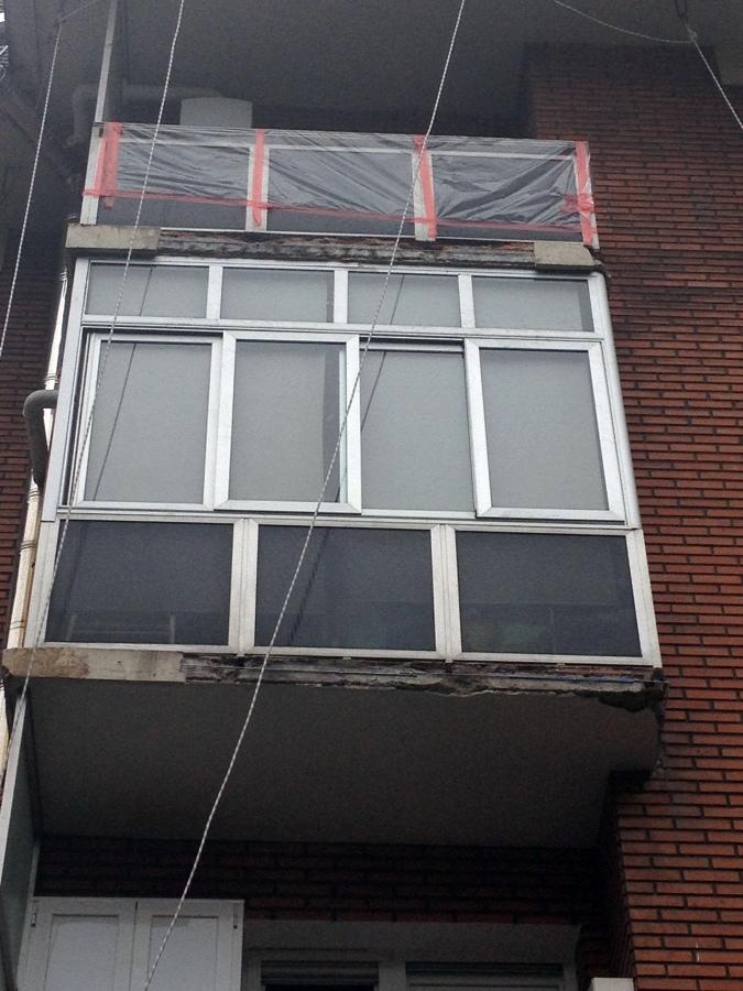 Reparación de frente de balcón