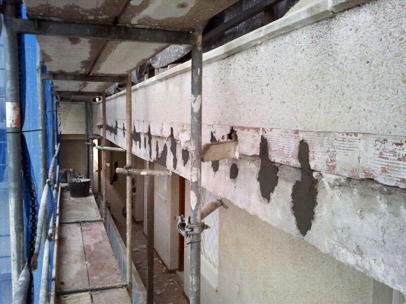 Reparación de grietas en cantos de forjado