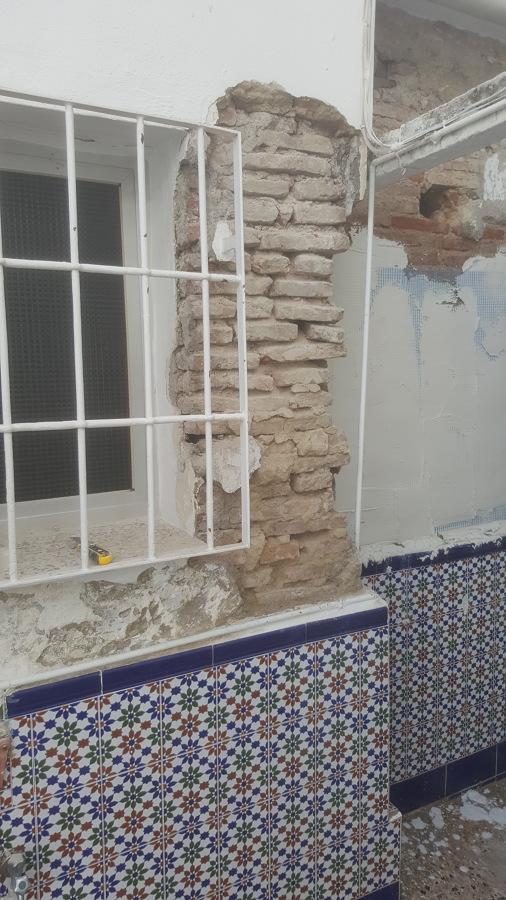 Reparación en patio interior