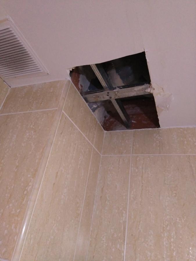 Reparación en techo de pladur