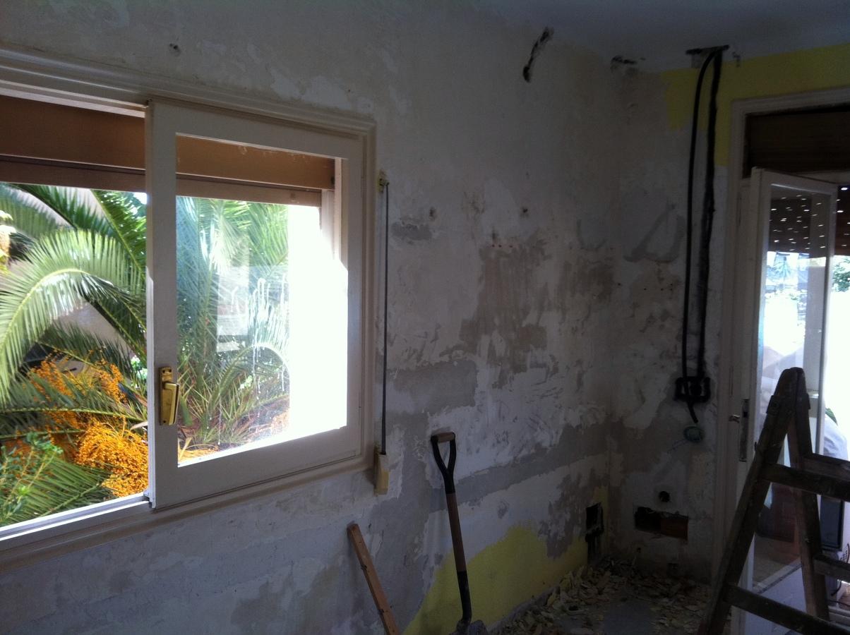 Reparacion paredes.