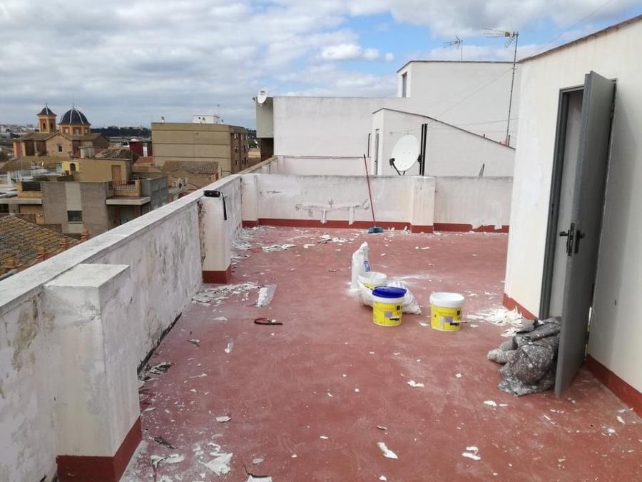 Reparacion y pintado en terraza