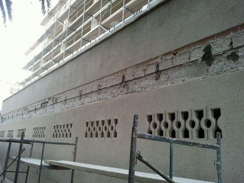 Reparaciones puntuales en fachada